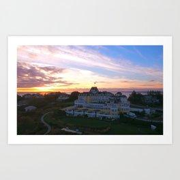 The Ocean House Hotel at Sunset, Watch Hill, Rhode Island Art Print