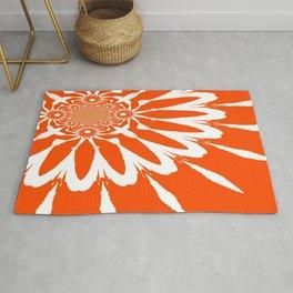 The Modern Flower Orange Rug