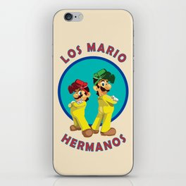 Los Mario Hermanos iPhone Skin