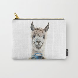 Llama Latte Carry-All Pouch