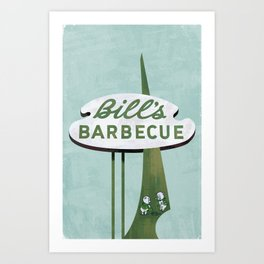 Bill's Barbecue Art Print