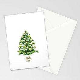 Pine Cone Christmas Tree Stationery Cards