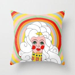 Theodora in Technicolor Throw Pillow