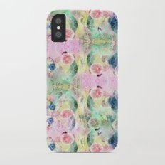 Ysmite Argate-crystal, floral, pastel, abstract Slim Case iPhone X