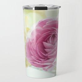 Princess like - Lightpink flower sparkling in silver bowl Stilllife Travel Mug