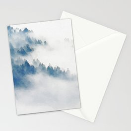 Foggy forest watercolor painting #11 Stationery Cards
