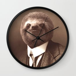 Gentleman Sloth #1 Wall Clock