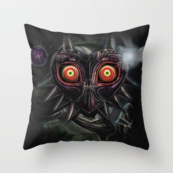 Zelda Throw Pillows : Legend of Zelda Majora s Mask Link Throw Pillow by Barrett Biggers Society6