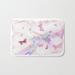 """""""Flash Dream ~ Butterflies"""" Bath Mat"""
