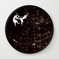 ninja Wall Clocks featuring Ninja by TrueLoveStory