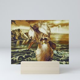 Mellow Gold Lighting On The Iris At The Sea Side Mini Art Print