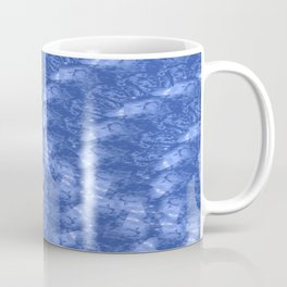 Blue and White Waves in a Pool; Fluid Abstract 42 Coffee Mug