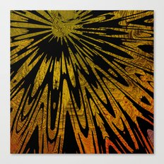 Native Tapestry in Gold Canvas Print