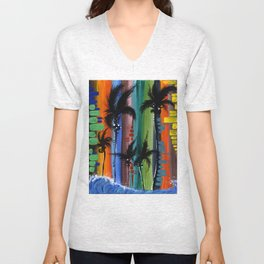 """COLOR IN PARADISE""  Unisex V-Neck"