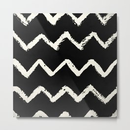Tribal Chevron Stripes Metal Print