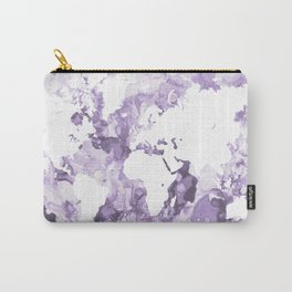 Design 109 Purple World Map Carry-All Pouch