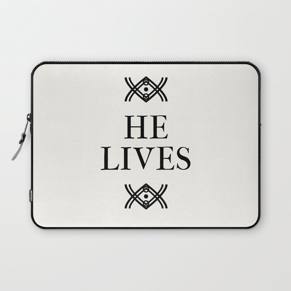 He Lives Laptop Sleeve LSV8750149