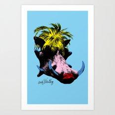 Andy Warthog Art Print