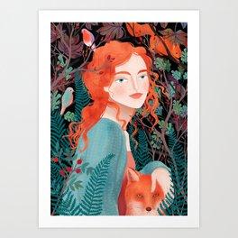 Autumns child Art Print