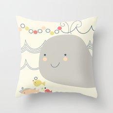 Whaley on the sea Throw Pillow