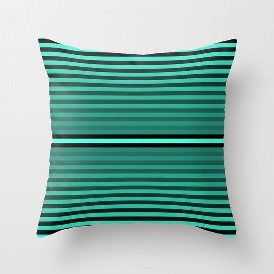 Teal/Black Throw Pillow
