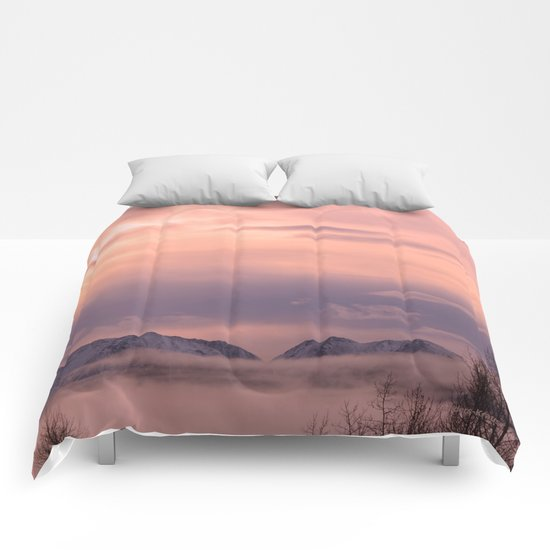 Rose Serenity Winter Fog - II Comforters