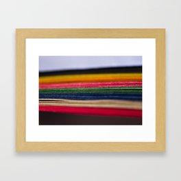 color papers Framed Art Print