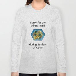 Catan, Settlers of Catan, Board Game, Geek Art, Nerd Art Long Sleeve T-shirt