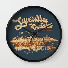 Visit Superstition Mountains, Arizona. Wall Clock