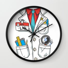 lab coat costume  Wall Clock