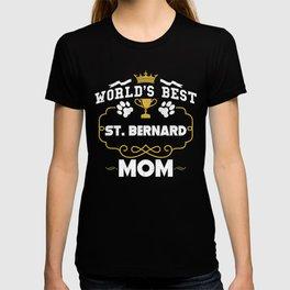 World's Best St. Bernard Mom T-shirt
