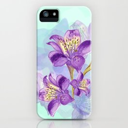 Purple Lilly iPhone Case