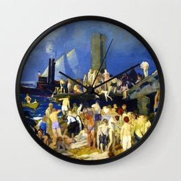 """George Wesley Bellows """"River Front"""" Wall Clock"""