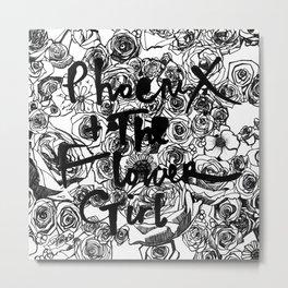 "PHOENIX AND THE FLOWER GIRL ""THE FLOWER GARDEN"" PRINT Metal Print"