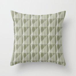 Simple Geometric Pattern 2 in Sage Green Throw Pillow
