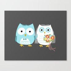 Owls Wedding Day Canvas Print