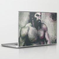 """dragon age Laptop & iPad Skins featuring Dragon Age Inquisition - Blackwall by Barbara """"Yuhime"""" Wyrowińska"""
