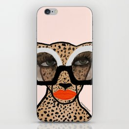 Cheetah In Shades iPhone Skin