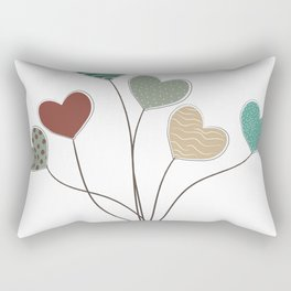 Heart Balloons Rectangular Pillow