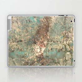 Turquoise and Fawn Brown Marble Laptop & iPad Skin