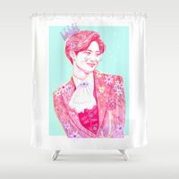 prince Shower Curtains featuring Fairy Prince by sophillustration
