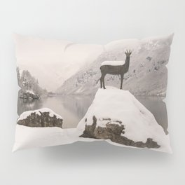 The Stag At Lake Bohinj Pillow Sham
