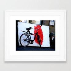 Bike and canvas Framed Art Print