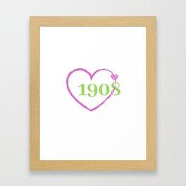 1908 Heart Framed Art Print