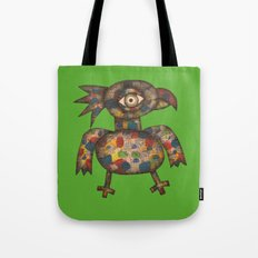 The Green Parrot Tote Bag