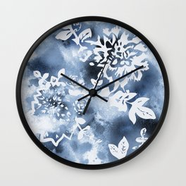 Watercolor splash floral Wall Clock