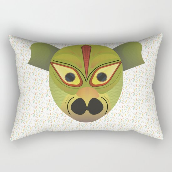Devil amphibian bird mask Rectangular Pillow