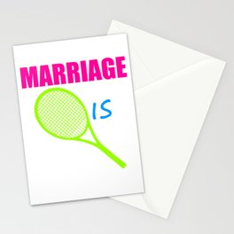 Marriage is a racket Stationery Cards