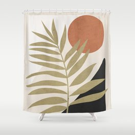 Tropical Leaf- Abstract Art 9 Shower Curtain