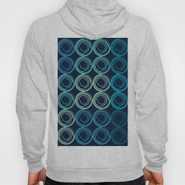 Blue Circles Abstract Pattern Hoody